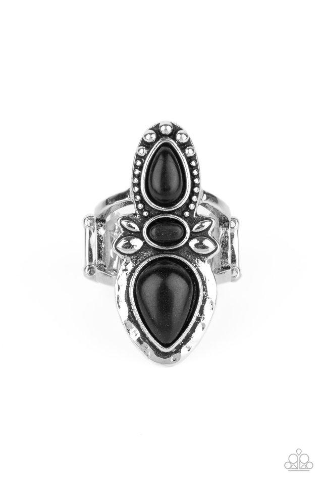 In a BADLANDS Mood - Black - Paparazzi Ring Image