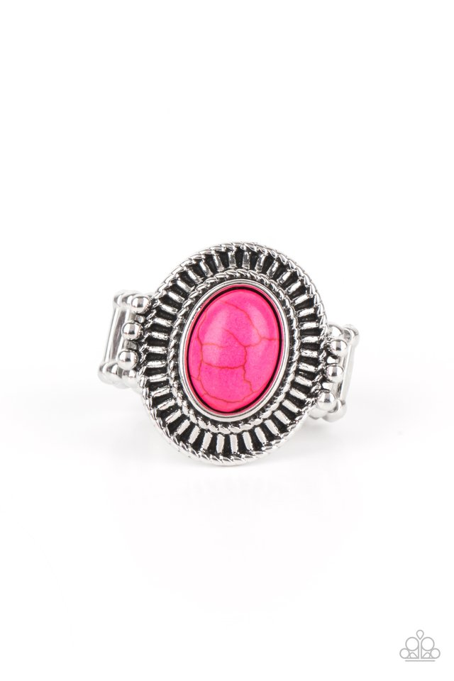 BADLANDS To The Bone - Pink - Paparazzi Ring Image