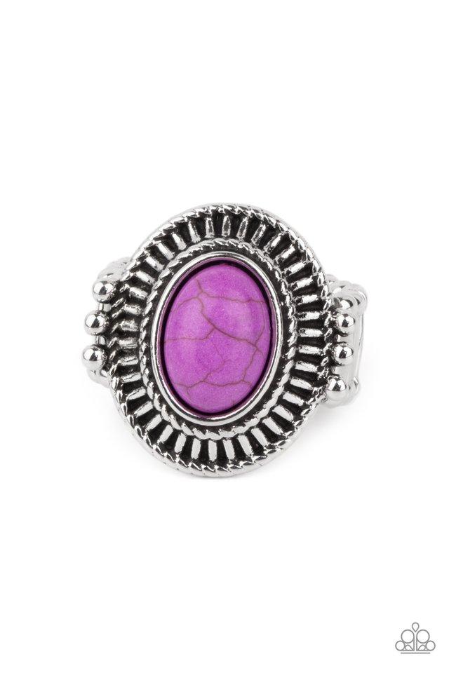 BADLANDS To The Bone - Purple - Paparazzi Ring Image
