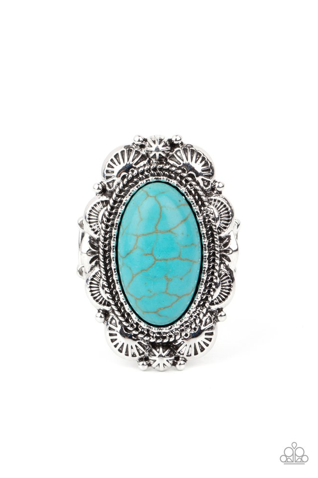 Bring Down The RANCH House - Blue - Paparazzi Ring Image