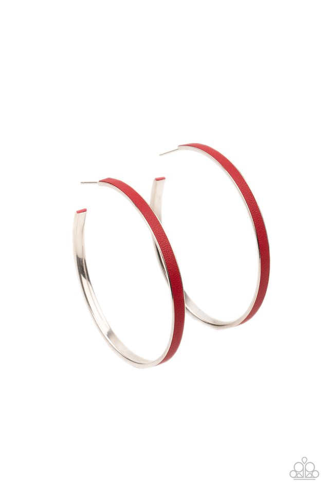 Fearless Flavor - Red - Paparazzi Earring Image