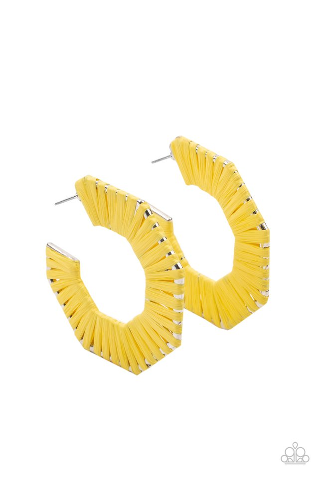 Fabulously Fiesta - Yellow - Paparazzi Earring Image