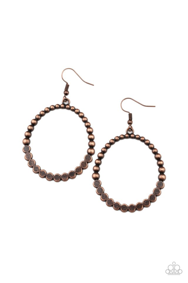 Rustic Society - Copper - Paparazzi Earring Image