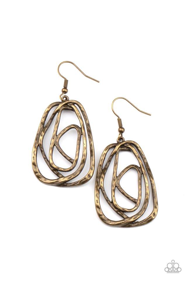 Artisan Relic - Brass - Paparazzi Earring Image
