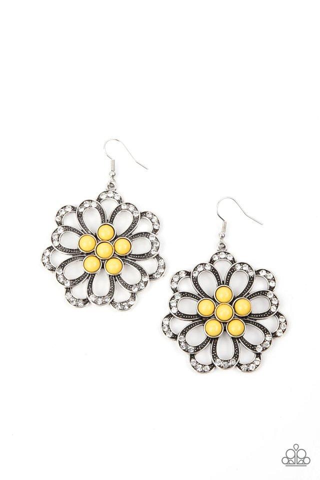 Dazzling Dewdrops - Yellow - Paparazzi Earring Image