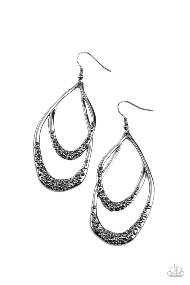 Beyond Your GLEAMS - Black - Paparazzi Earring Image