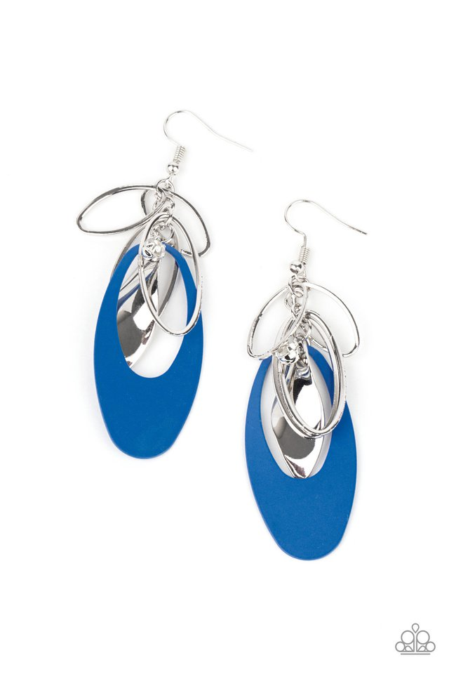​Ambitious Allure - Blue - Paparazzi Earring Image
