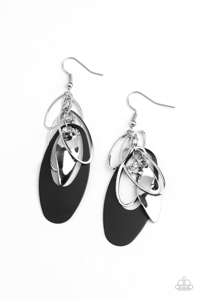 Ambitious Allure - Black - Paparazzi Earring Image