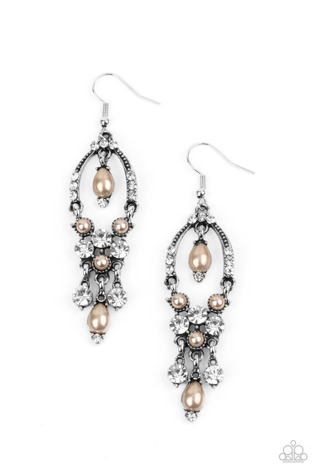 Back In The Spotlight - Brown - Paparazzi Earring Image