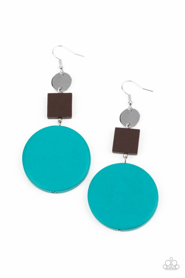 Modern Materials - Blue - Paparazzi Earring Image
