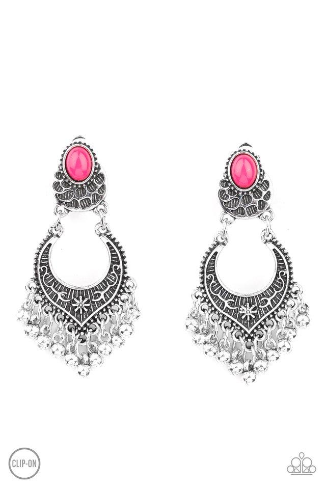 Summery Gardens - Pink - Paparazzi Earring Image