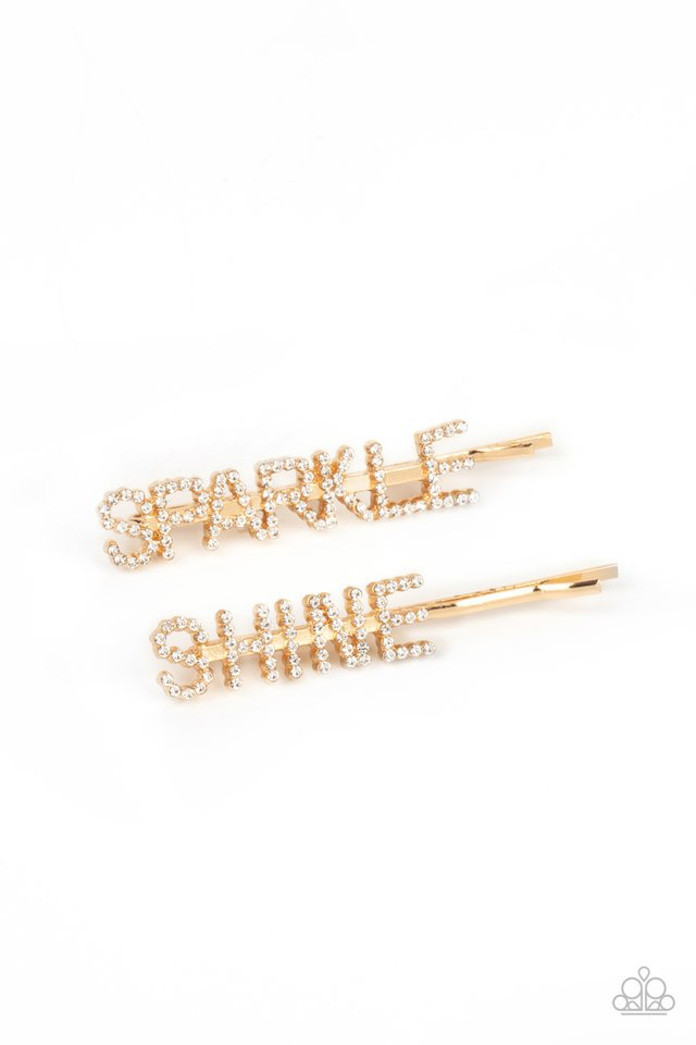 Center of the SPARKLE-verse - Gold - Paparazzi Hair Accessories Image