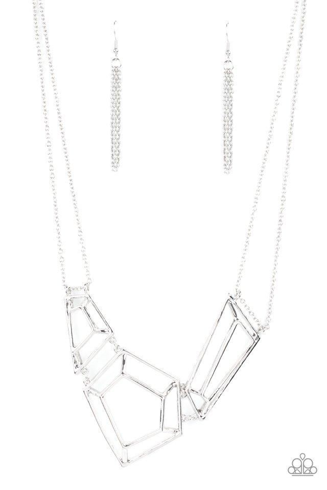 3-D Drama - Silver - Paparazzi Necklace Image