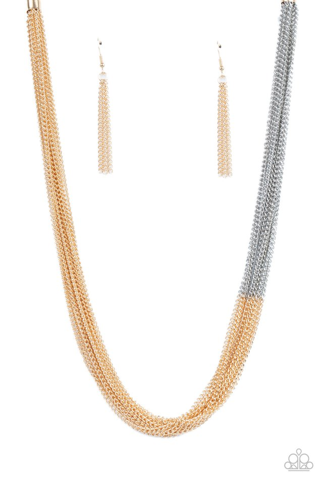 Metallic Merger - Gold - Paparazzi Necklace Image