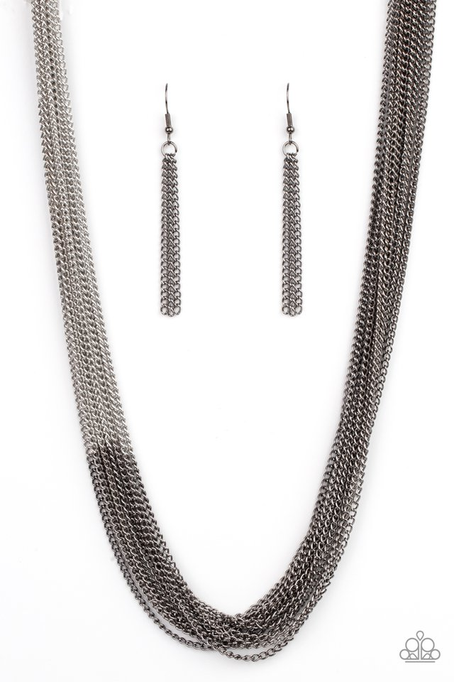 Metallic Merger - Black - Paparazzi Necklace Image