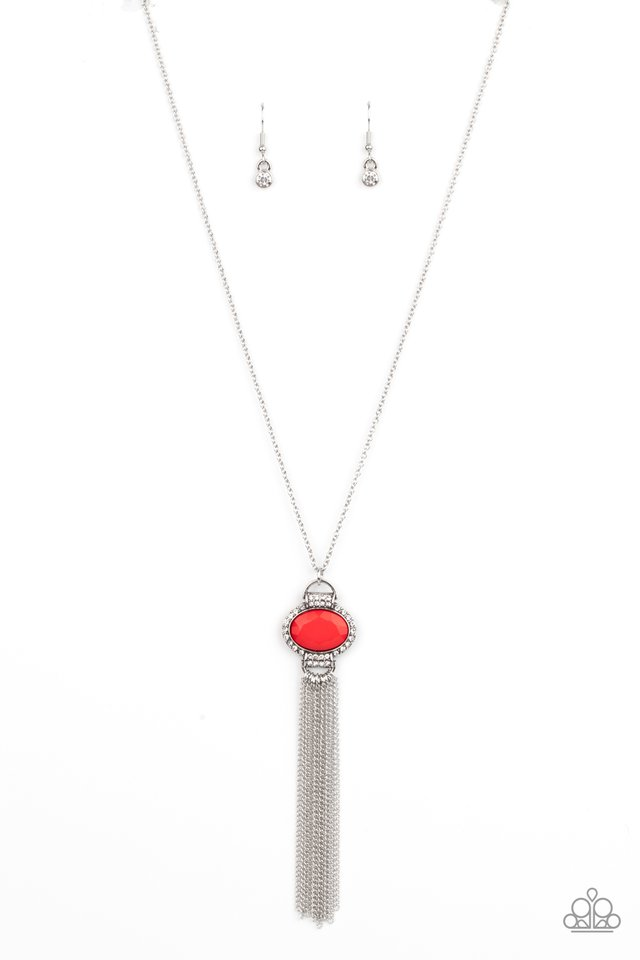 What GLOWS Up - Red - Paparazzi Necklace Image