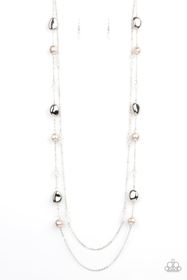 Gala Goals - Brown - Paparazzi Necklace Image