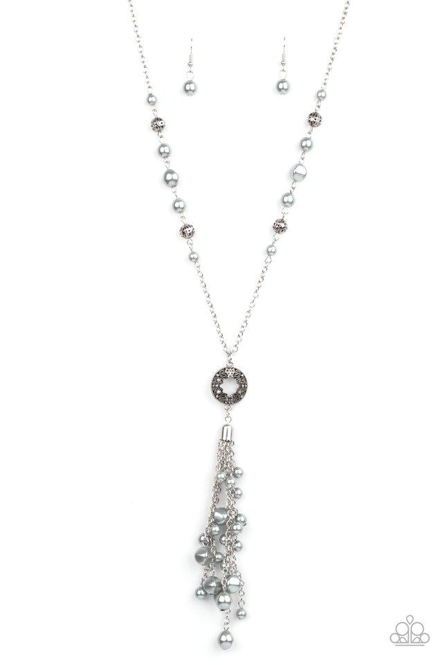Tasseled Treasure - Silver - Paparazzi Necklace Image
