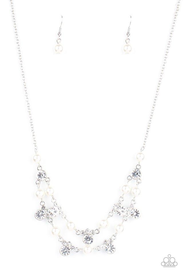 Royal Announcement - White - Paparazzi Necklace Image