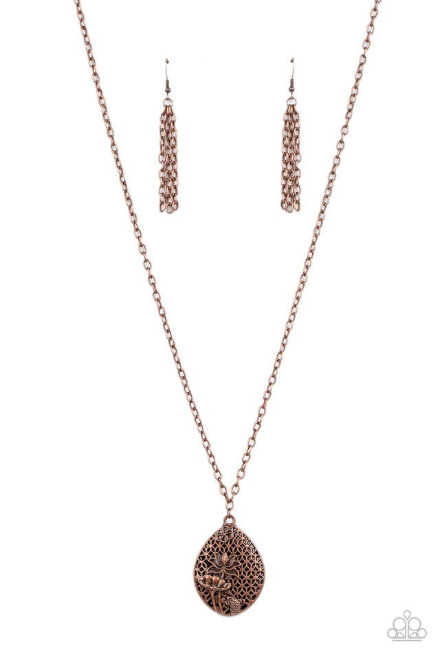 Wearable Wildflowers - Copper - Paparazzi Necklace Image