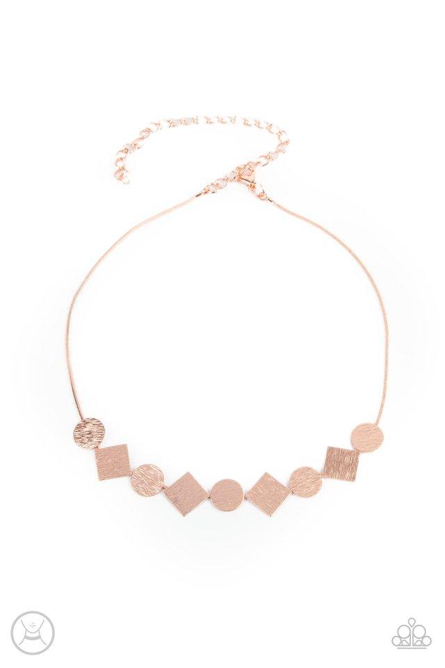Dont Get Bent Out Of Shape - Copper - Paparazzi Necklace Image