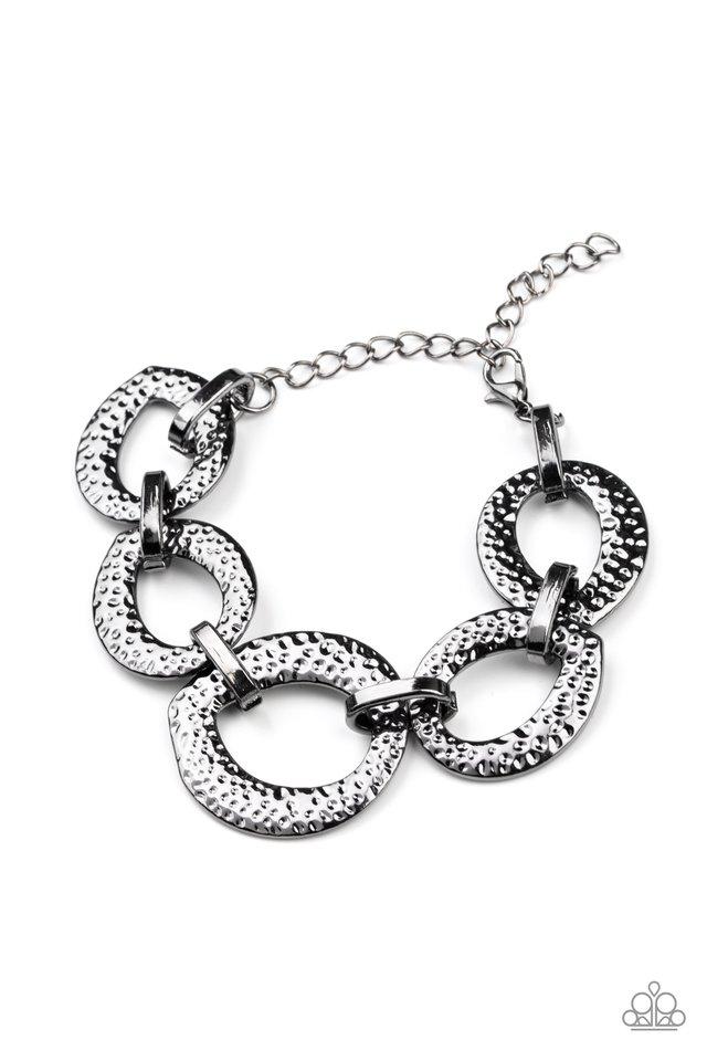 STEEL The Show - Black - Paparazzi Bracelet Image