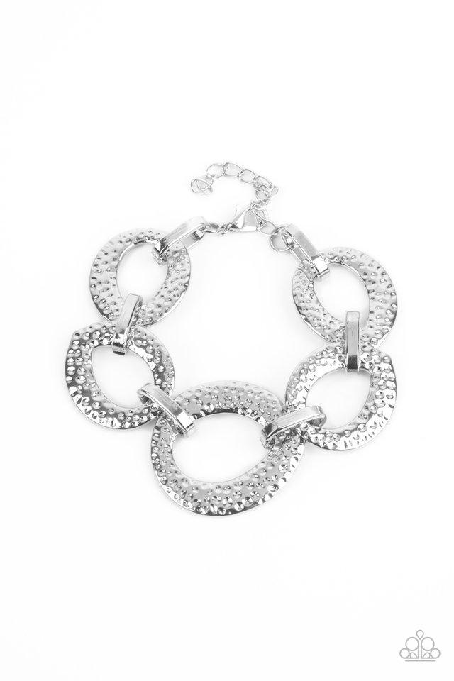 STEEL The Show - Silver - Paparazzi Bracelet Image
