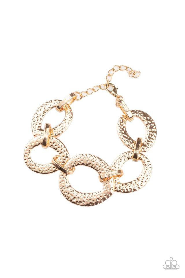 STEEL The Show - Gold - Paparazzi Bracelet Image