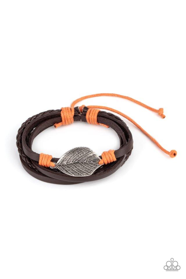 FROND and Center - Orange - Paparazzi Bracelet Image