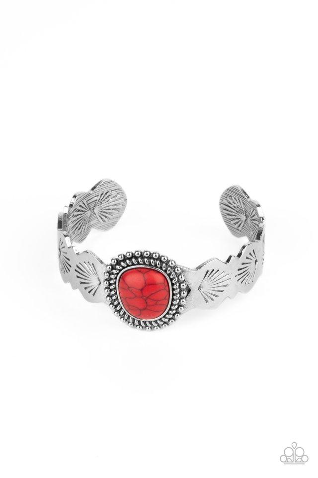 Oceanic Oracle - Red - Paparazzi Bracelet Image