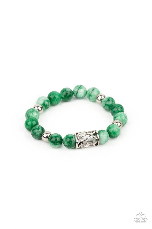 Soothes The Soul - Green - Paparazzi Bracelet Image