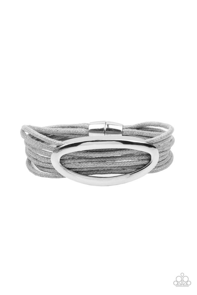 Corded Couture - Silver - Paparazzi Bracelet Image