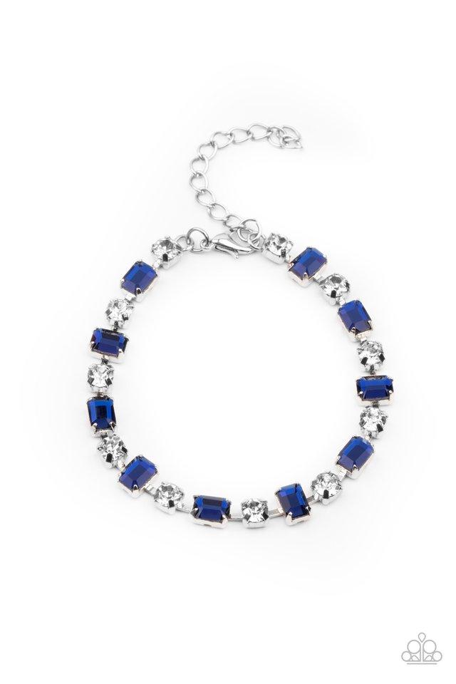 Out In Full FIERCE - Blue - Paparazzi Bracelet Image