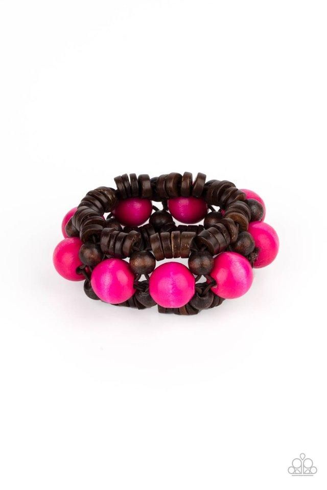 Tropical Temptations - Pink - Paparazzi Bracelet Image