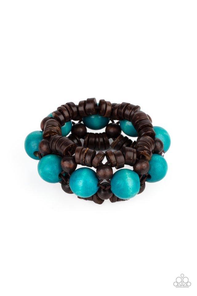 Tropical Temptations - Blue - Paparazzi Bracelet Image