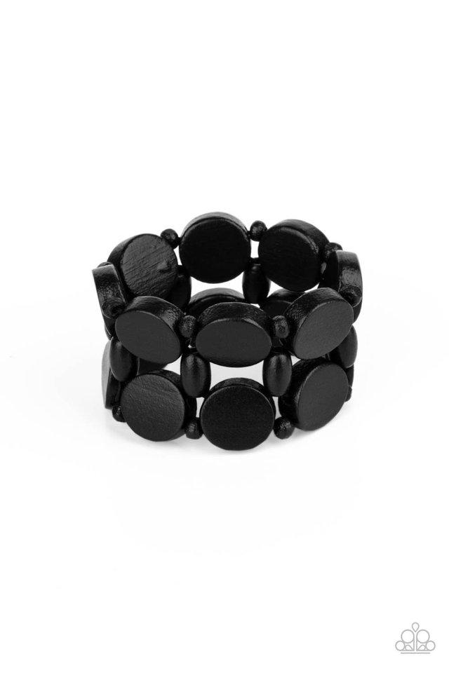 Beach Bravado - Black - Paparazzi Bracelet Image
