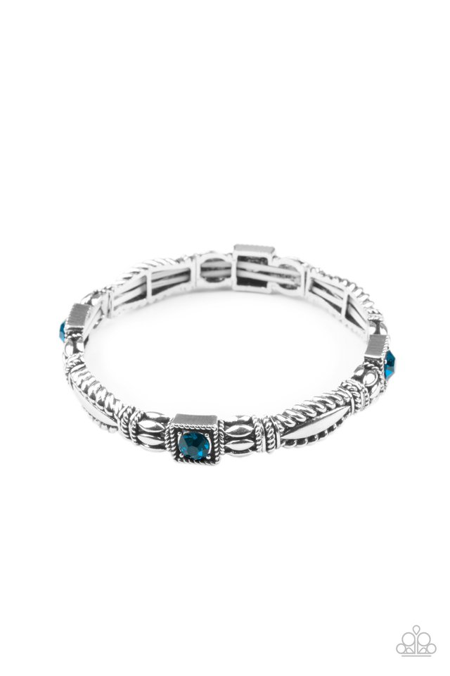 Get This GLOW On The Road - Blue - Paparazzi Bracelet Image