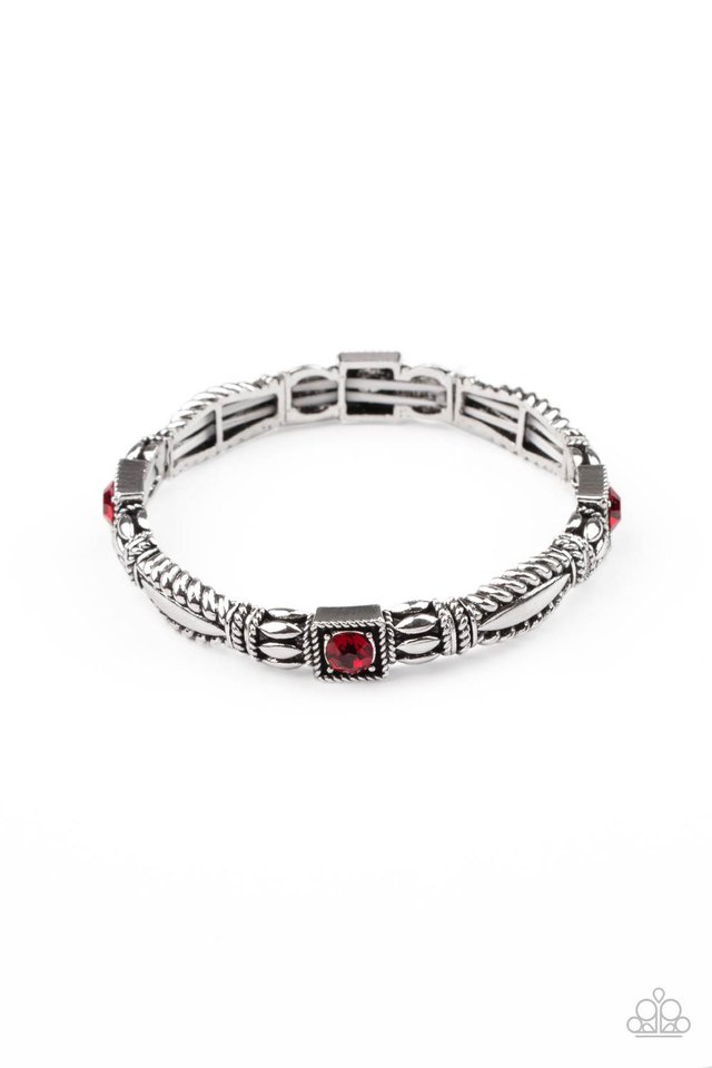Get This GLOW On The Road - Red - Paparazzi Bracelet Image