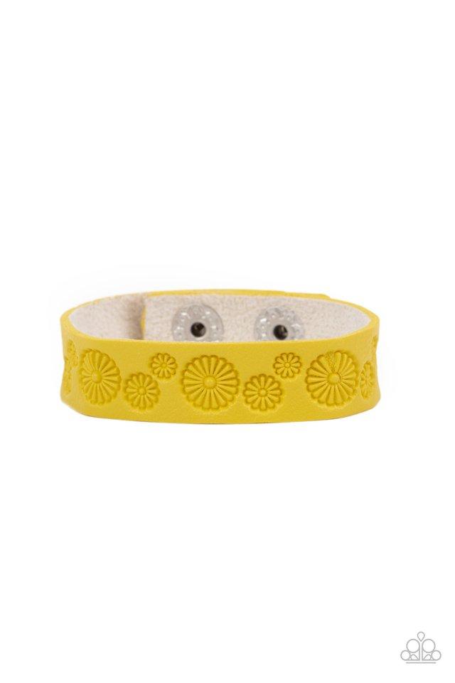 Follow The Wildflowers - Yellow - Paparazzi Bracelet Image