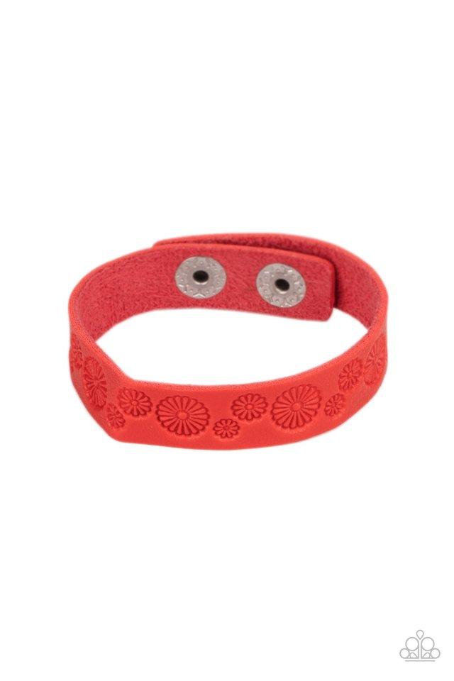 Follow The Wildflowers - Red - Paparazzi Bracelet Image