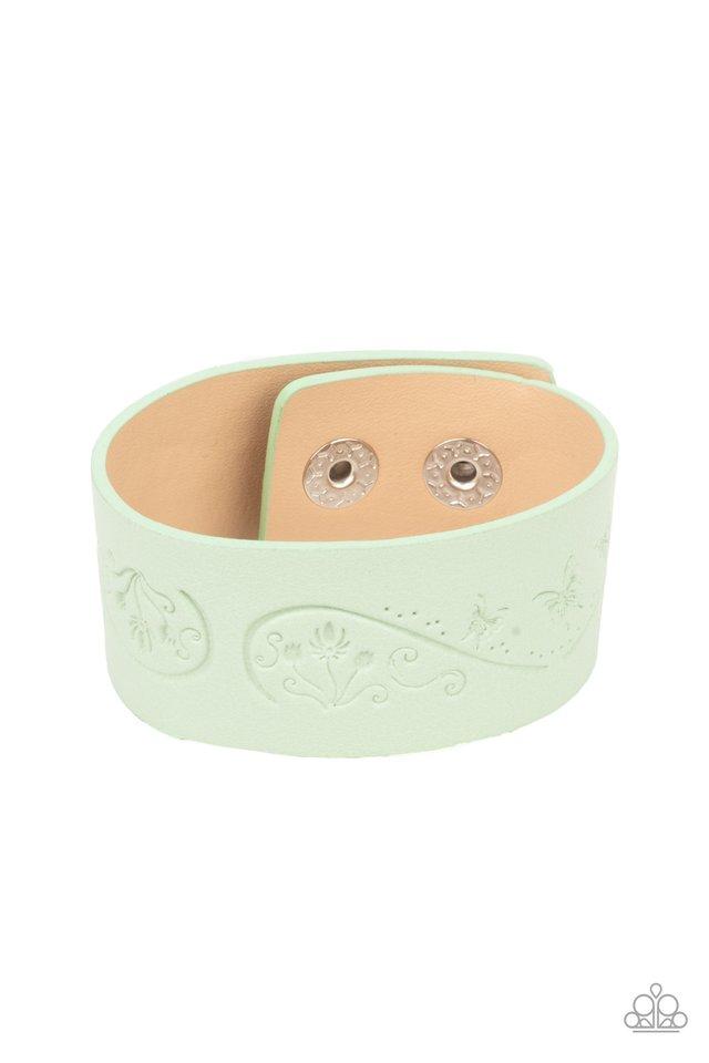 Butterfly Canopy - Green - Paparazzi Bracelet Image