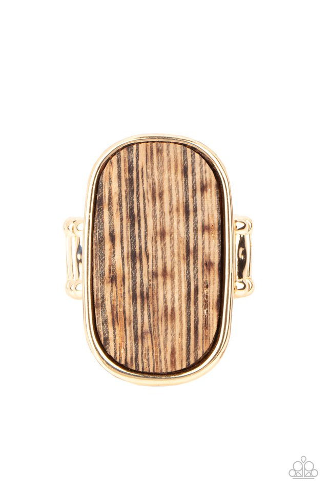 Reclaimed Refinement - Gold - Paparazzi Ring Image