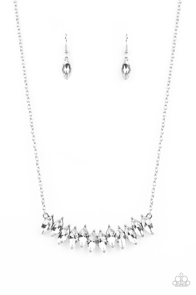 Icy Intensity - White - Paparazzi Necklace Image