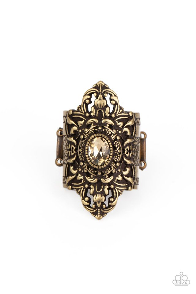 Perennial Posh - Brass - Paparazzi Ring Image