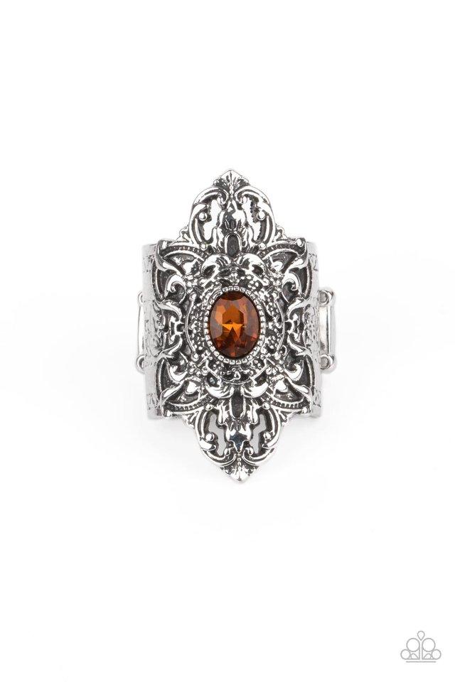 Perennial Posh - Brown - Paparazzi Ring Image
