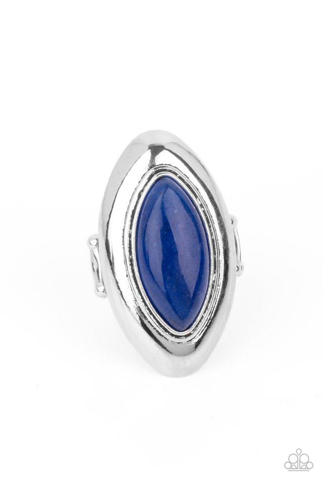 Sahara Seer - Blue - Paparazzi Ring Image