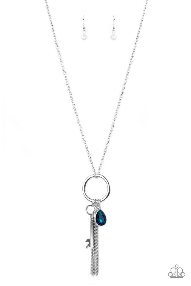 Unlock Your Sparkle - Blue - Paparazzi Necklace Image