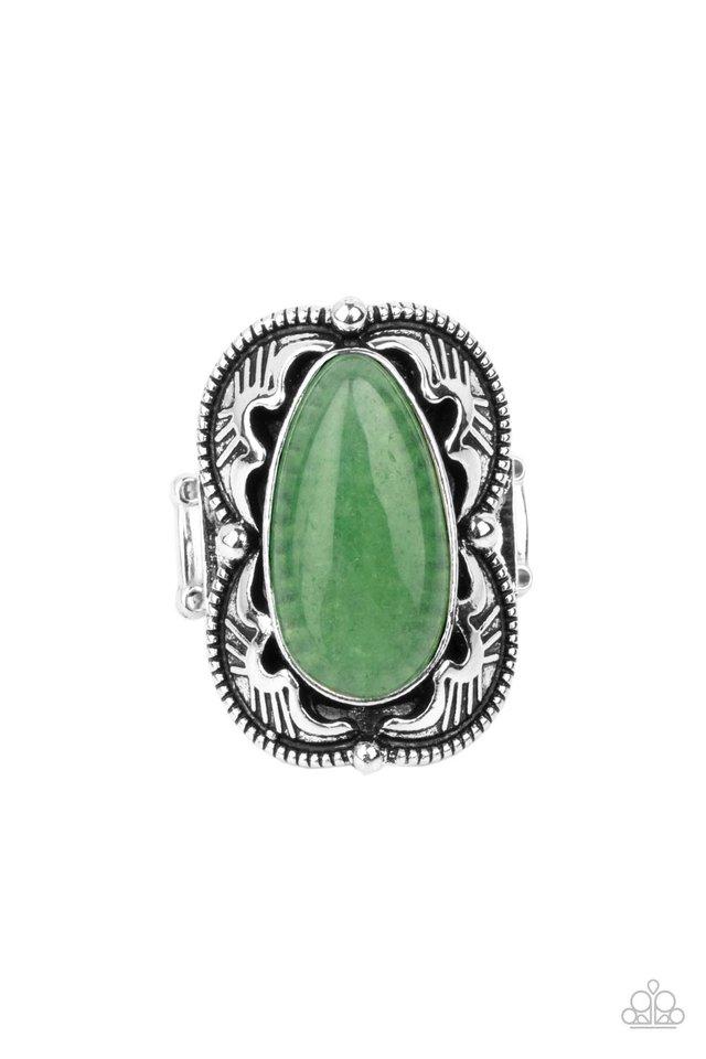 Mystical Mambo - Green - Paparazzi Ring Image