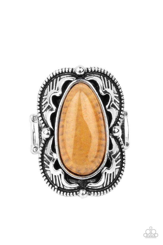 Mystical Mambo - Orange - Paparazzi Ring Image