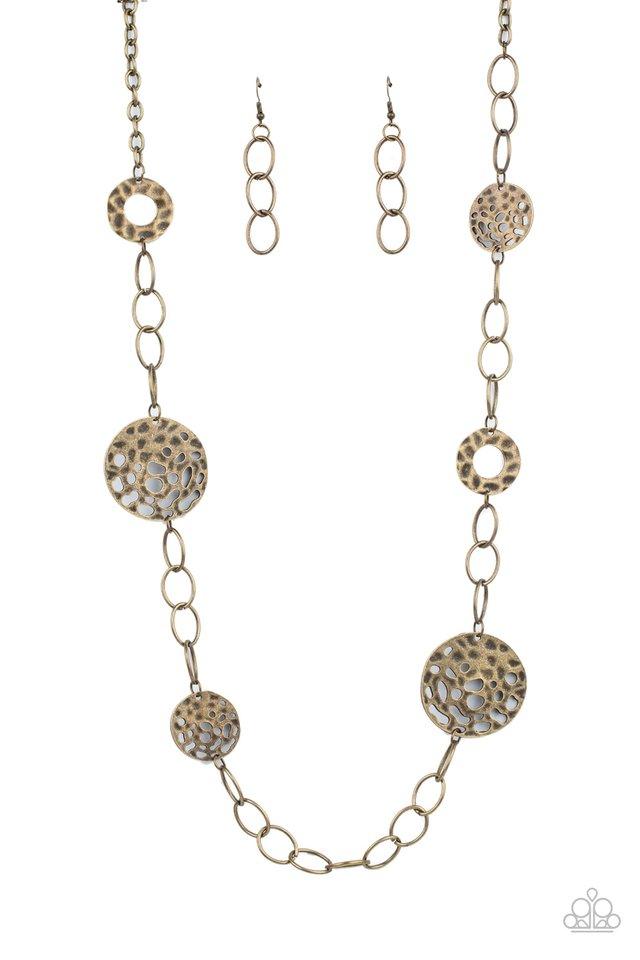 HOLEY Relic - Brass - Paparazzi Necklace Image